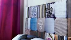 tête de lit multicolore