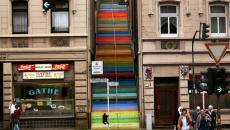 Escalier street art à Wuppertal - Allemagne