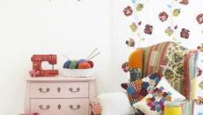 Fauteuil design « patchwork » pour une décoration intérieure très colorée