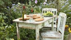 mobilier de jardin rustique