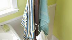 Porte-serviettes type porte-manteau