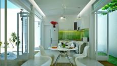 design contemporain futuriste pour cette salle à manger