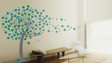 stickers muraux arbre bleu