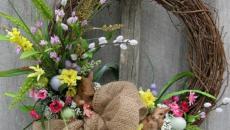 couronne floral et en brindilles