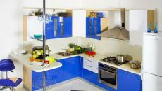 Cuisine moderne au design bleu