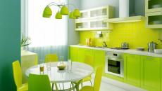 cuisine design vert et bleu