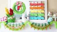 déco maison Pâques en coloris pétiallants