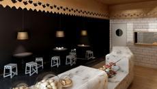 boulangerie russie comptoir et plafond bois