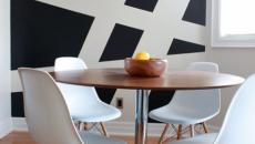 Blanc et bleu marine pour salle à manger moderne