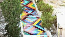 Escalier street art de la paix - Syrie