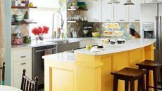 ilot central de cuisine jaune peps