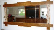 miroir rétro en bois