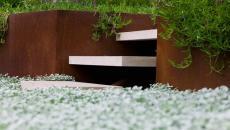 Les détails d'un jardin paysagiste minimaliste