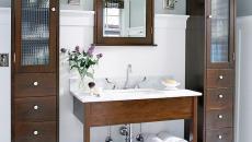 Meubles de rangement salle de bain assortis