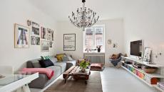 Séjour éclectique, meuble design simplicité