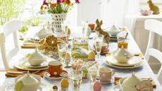 table décoration spéciale Pâques
