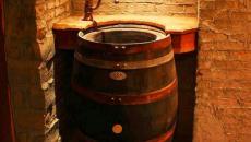 Vasque excentrique en tonneaux