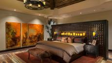 Chambre design moderne chaleureuse