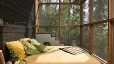 chambre design sur pièce vitrée
