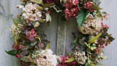 couronne déco pour pâques en fleurs