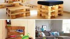 Idée originale diy mobilier meuble en palettes