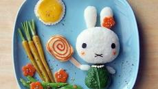 faire manger équilibré aux enfants lapin en riz