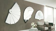 miroir en éventails très design