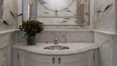 marbre blanc salle de bain design