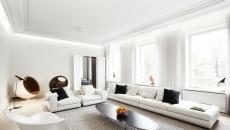 séjour design tout blanc