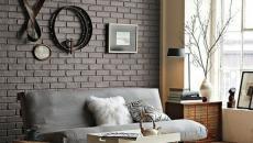 Décoration séjour en briques apparentes
