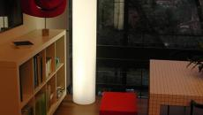 slide lampadaire fluo