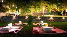 Ambiance créative et accueillante grâce au luminaire jardin