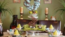 couronne d'œufs bleus pour pâques