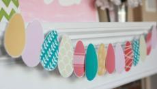 déco maison Pâques à l'aide de guirlande d'œufs en papier