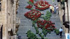 Escalier street art à Caltagirone, Sicile - Italie