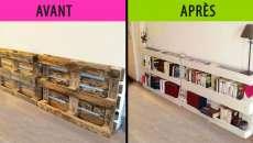 Meubler les murs faire meuble palettes soi-même