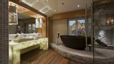 spa hôtel thermal dans les Alpes suisses