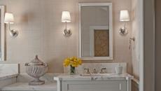 mobilier blanc aménagement design salle de bain