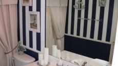 Salle de bain décorée à la marine