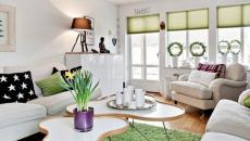 Verdure et blancheur pour un décor meuble design