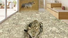 revêtement de sol en 3D savane africaine
