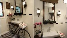 vélo devenu support lavabo déco design
