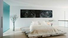 chambre a coucher design lit planche bois