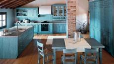 Design turquoise dans la cuisine