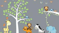 9 décoration avec stickers muraux spécial chambre bébé