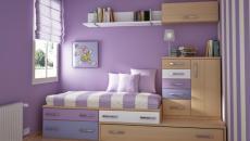 Décoration chambre enfant en violet