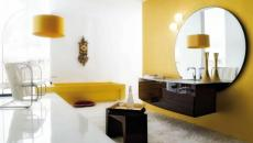 salle de bain en jaune tendance