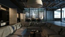 maison au bord de la mer Noire design industriel