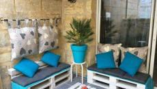 Salon de jardin à partir de palettes blanches