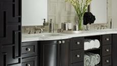 meuble venge salle de bain de style design